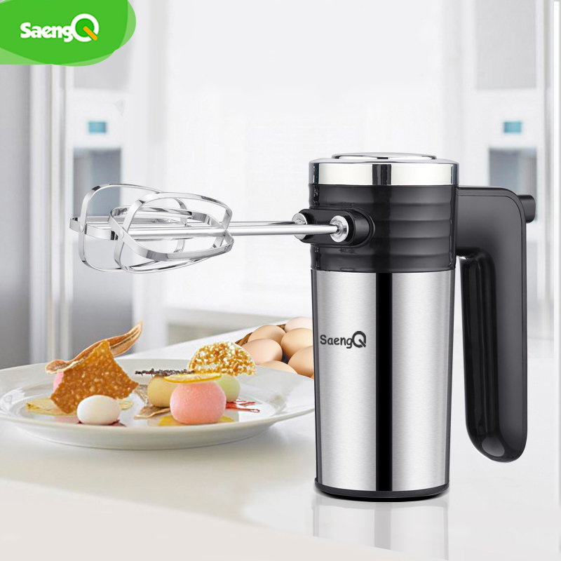 SaengQ 5 Speeds 220V Multifunction Electric Food Mixer Hand Blender Dough Blender Egg Beater Hand Mixer For Kitchen