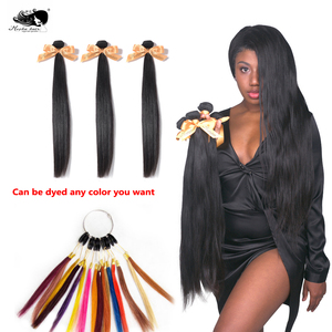 """Image 3 - Pelo lacio MOCHA de 8 """"  26"""" 10A, cabello virgen brasileño, Color Natural, 100%, extensión de cabello humano sin procesar, envío gratis"""