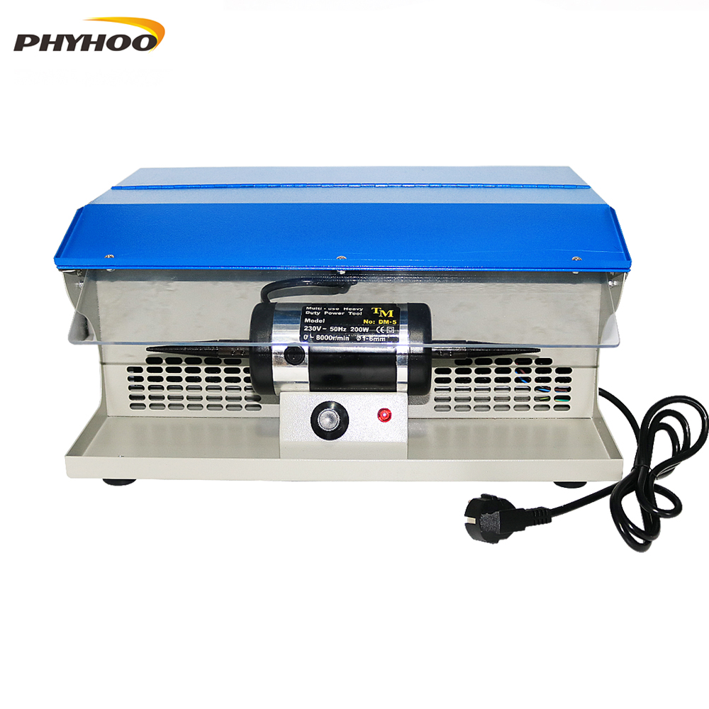 Polishing Machine With Dust Collector Mini Polishing Grinding Motor Bench Grinder Polisher 1/6HP Jewelry Polisher Machine