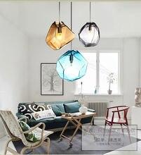 Хрустальная Подвесная лампа новинка Скандинавское разноцветное