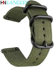 Pulseira de relógio de liberação rápida para homem feminino premium náilon nato pulseira de relógio com fivela de aço inoxidável preto-18mm, 20mm,22mm,24mm
