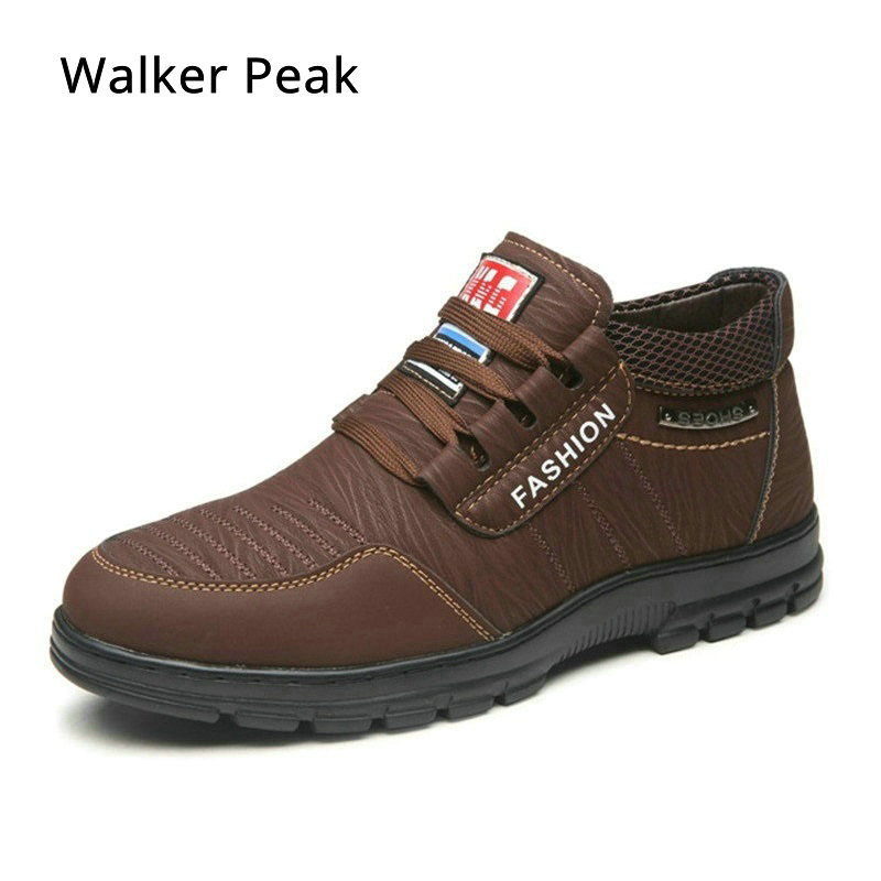 Men Boots With Plush Warm Snow Boots Men Winter Work Shoes Footwear Fashion Male Rubber Ankle Boots Mens Casual Shoes Walkerpeak