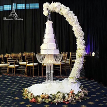 ROMANTIC WEDDING Cake Stand Party Decoration Wedding Faux Crystal Chandelier Style Drape Suspended Cake Swing faux crystal filigree chandelier earrings