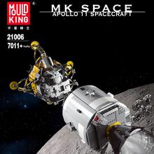 Mold King 21006 MOC Apollo11 Star Plan Wars kreatywny Model kosmiczny klocki klocki montaż zabawki dla dzieci prezent dla chłopców tanie tanio MOULD KING CN (pochodzenie) 8 ~ 13 Lat 14Y STARSZE DZIECI Samoloty Fantasy i sci-fi Not to eat Z tworzywa sztucznego 7011 PCS