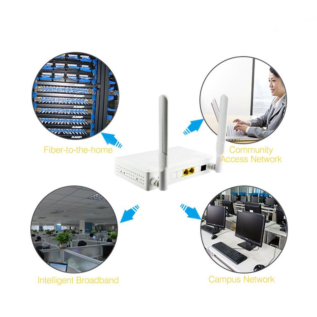 Two-port EPON ONU Terminal With 1G1F+WIFI Video Surveillance NetworkTo FTTH Mode Mini Fiber Optic Modem Router Firmware EU plue 5