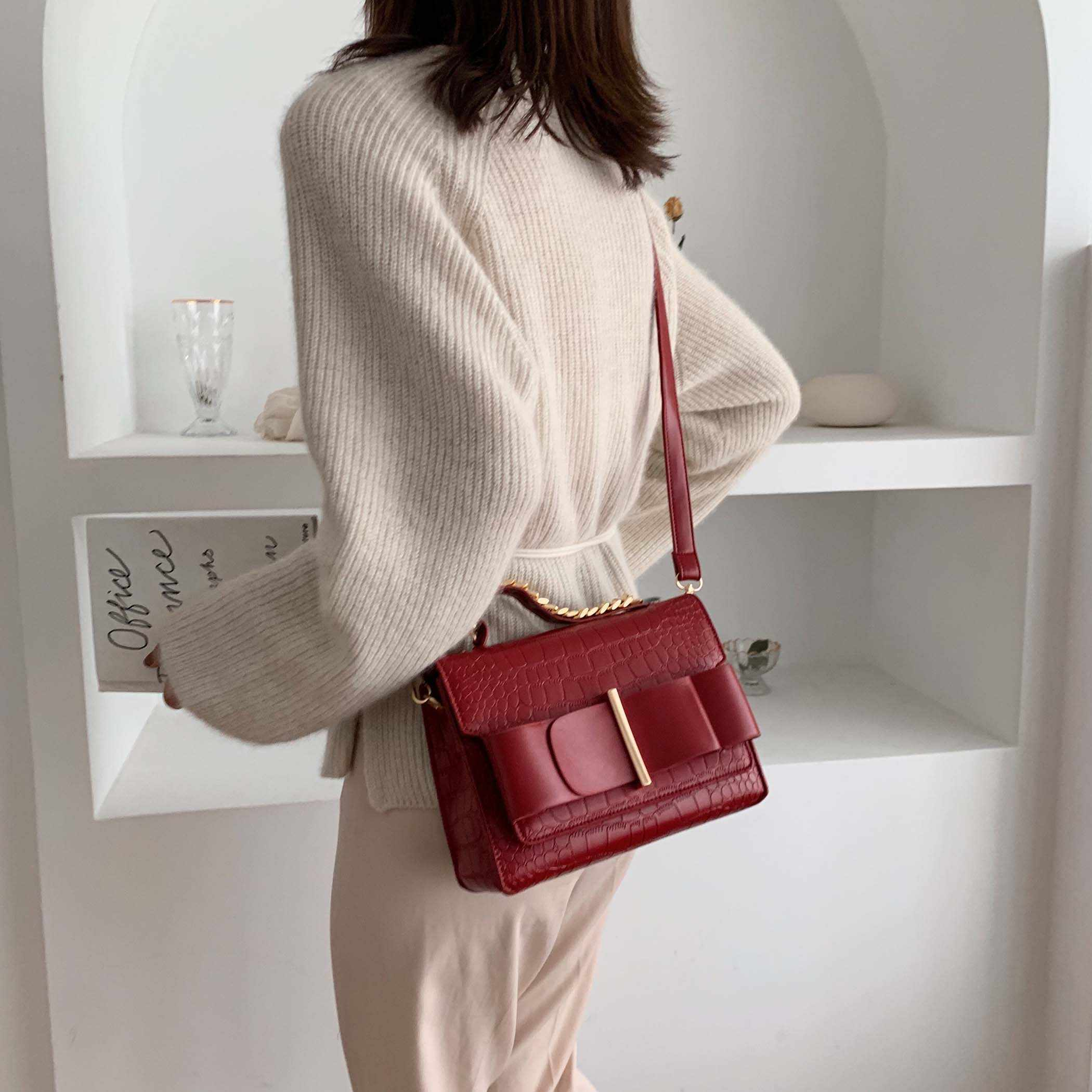 Stone Pattern Quality Crossbody Bags For Women 2019 Small Tote Handbags Lady Travel Female Brand Shoulder Messenger Bag