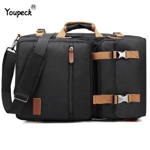 Image 1 - Multi functional Backpack Men Laptop Bag 17.3 Inch For Macbook Pro 15 Laptop Briefcase Travel Bag Laptop Bag 15.6 Inch