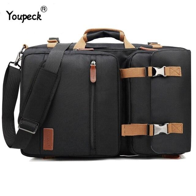 Multi functional Backpack Men Laptop Bag 17.3 Inch For Macbook Pro 15 Laptop Briefcase Travel Bag Laptop Bag 15.6 Inch