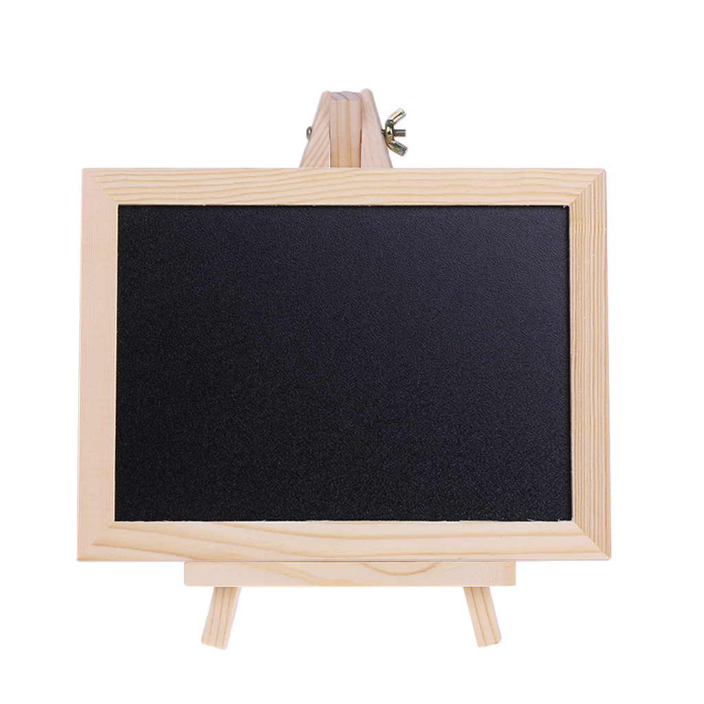 Wood Tabletop Chalkboard Double Sided Blackboard Message Board Children Kids Toy