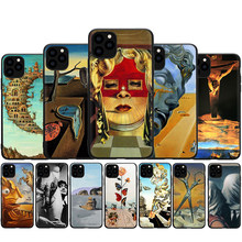 Salvador Dali Art Silicone Case For iPhone 7 8 Plus X XS Max XR Case For iphone 5 5s SE 2020 6 6s 11Pro Cover(China)