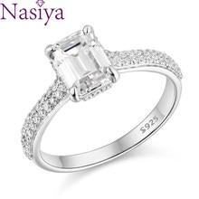S925 Sterling Silver Ring White Gold 6*8 Moissanite Engagement Rings for Women Moissanite Diamond Ring Luxury Jewelry