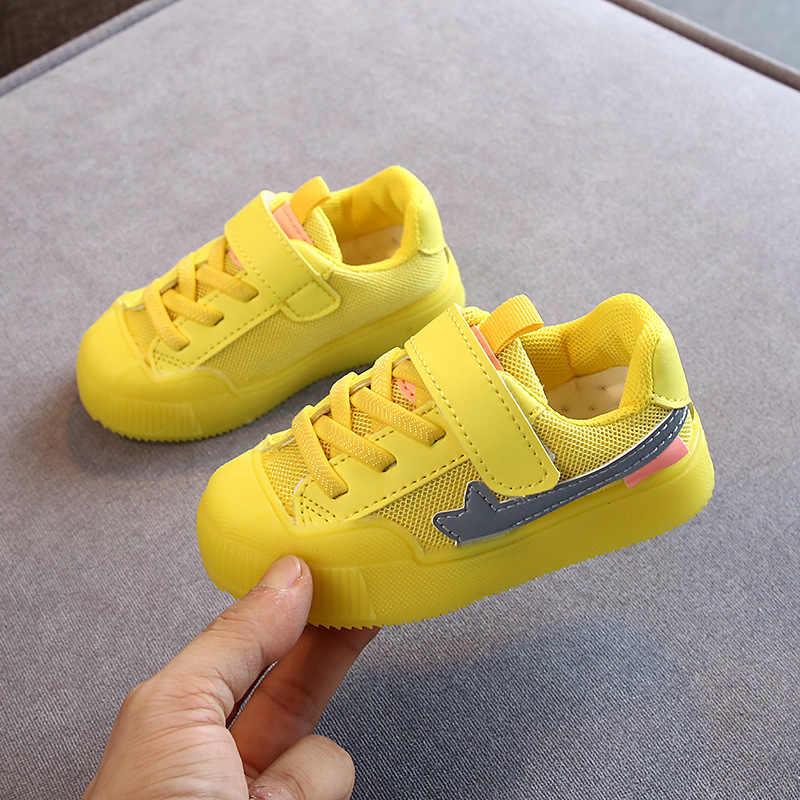 2019 neue Kinder Leder Schuhe Baby Mädchen Sport Turnschuhe Kinder Mesh Schuhe Jungen Casual Schuhe Marke Trainer Kleinkind Junge Schuhe