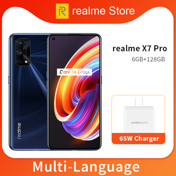 Перейти на Алиэкспресс и купить Realme X7 Pro смартфон на 8 ГБ, 128 ГБ, 5G, 6,4 дюйма, 120 Гц, AMOLED экран, 64 мп, 4 камеры, 4500 мАч, 65 Вт, быстрое зарядное устройство, 7 нм, Dimensity, 1000 + Восьмиядерный,...