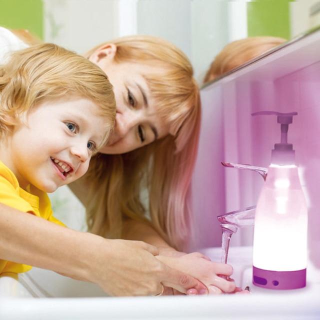 Automatic Sensor Soap Dispenser Motion Activate Touchless Sanitizer Dispenser Smart Sensor LED Guide Nightlight 1