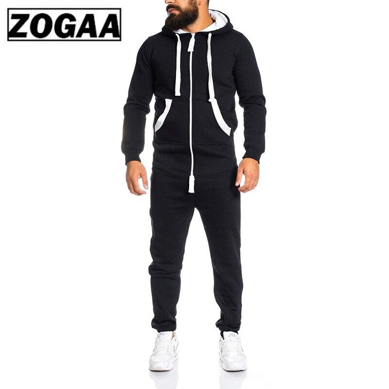 New 2 Pieces Sets Tracksuit Men Autumn Winter Pockets Hooded Sweatshirt + Sweatpants Sport Wear Sets Male Patchwork Sweat Suit