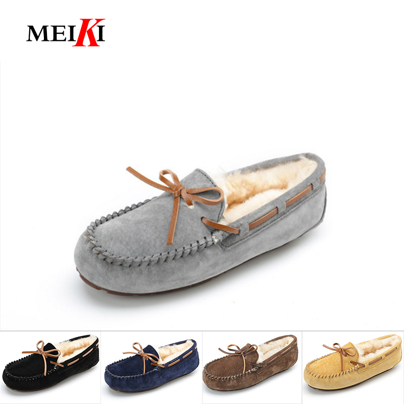 MEIKI Men Casual Shoes Fashion Men Shoes Genuine Leather Men Loafers Moccasins Slip On Flats Male Driving Shoes Size 39-44