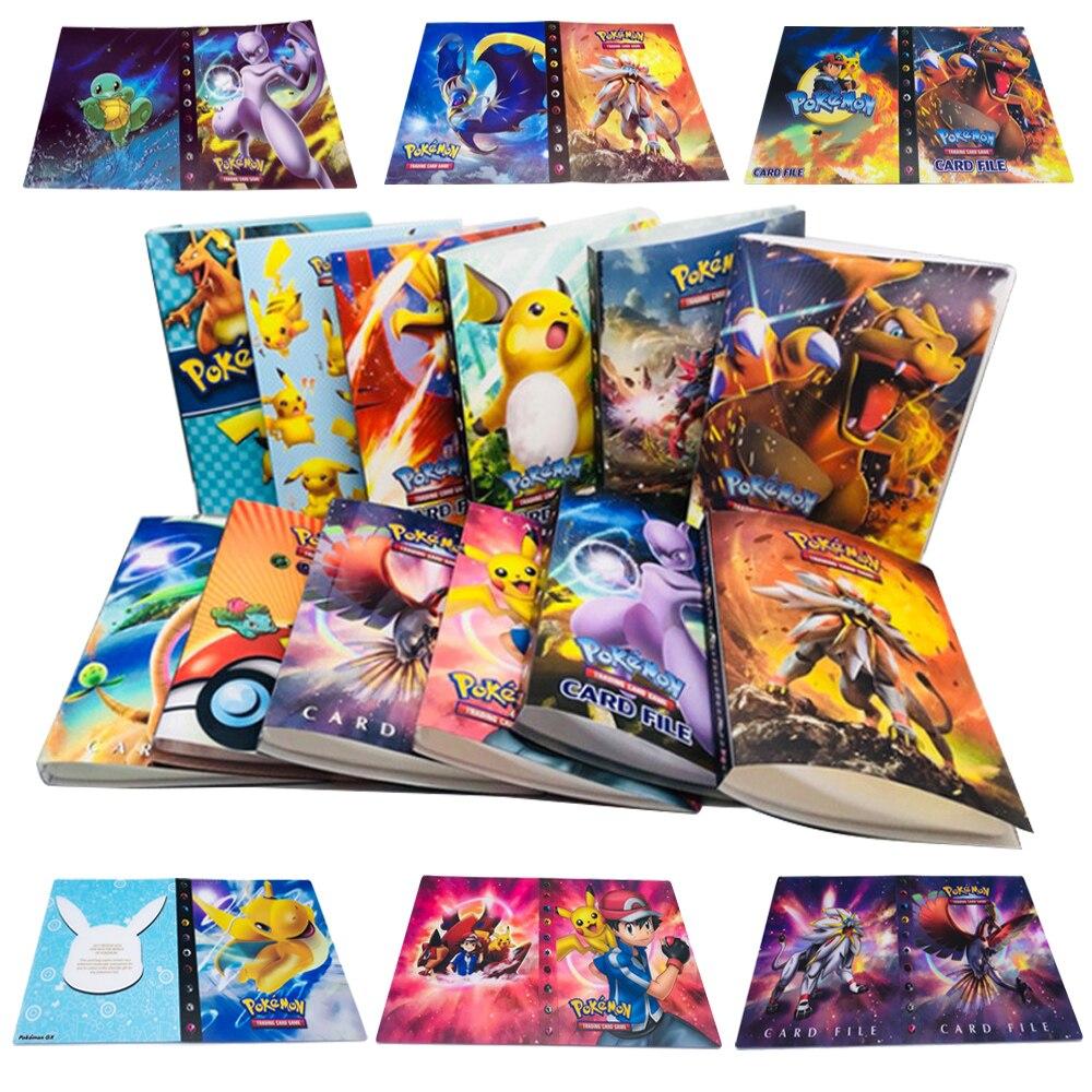 240 pçs titular álbum brinquedos coleções pokemon cartões álbum livro lista carregado topo brinquedos presente para crianças