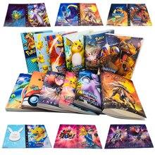 240Pcs מחזיק אלבום צעצועי אוספים פוקימון כרטיסי אלבום ספר למעלה טעון רשימת צעצועי מתנה לילדים