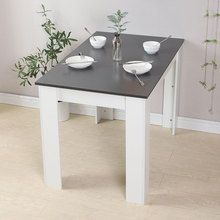 Solid Wood Square Dining Table Capacity 4-6 Wooden Dining Tables Desk Kitchen Dining Room Living Room Table Leisure FurnitureHWC