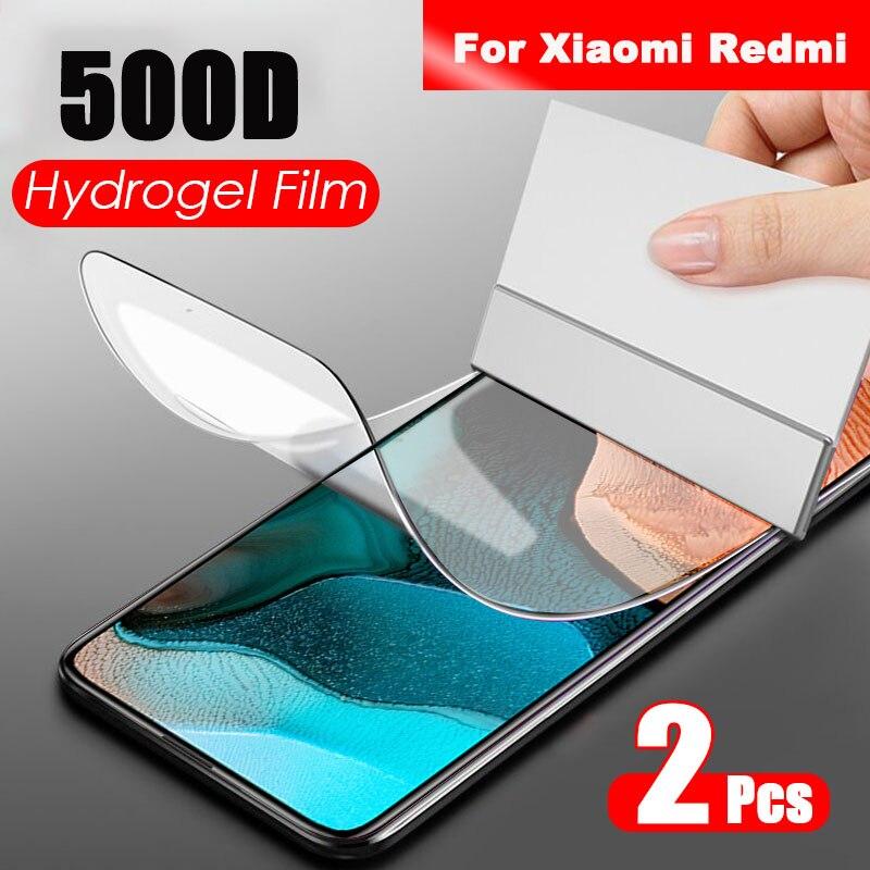 Pellicola protettiva per schermo 2 pezzi Hydrogel per Xiaomi Redmi Note 7 8 9 5 10 Pro pellicola protettiva su Redmi 9 9A Note 9S 9 4X 7A Not Glass