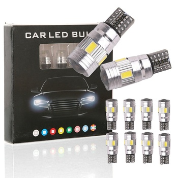 1PCS Light Bulb 194 W5W 10 SMD 5630 No Error LED Light Parking LED Car Side Light Car Auto LED Canbus Car Styling image