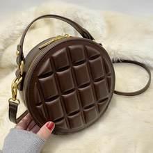 Mini redondo de luxo marca sacos para as mulheres 2021 feminino verificação crossbody saco couro do plutônio do vintage ombro hanbags bolsa praia