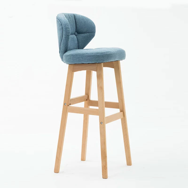 Nordic Barstool Modern Simple Creative Bar Household Front Desk Backrest High Stool Bar Counter Chair