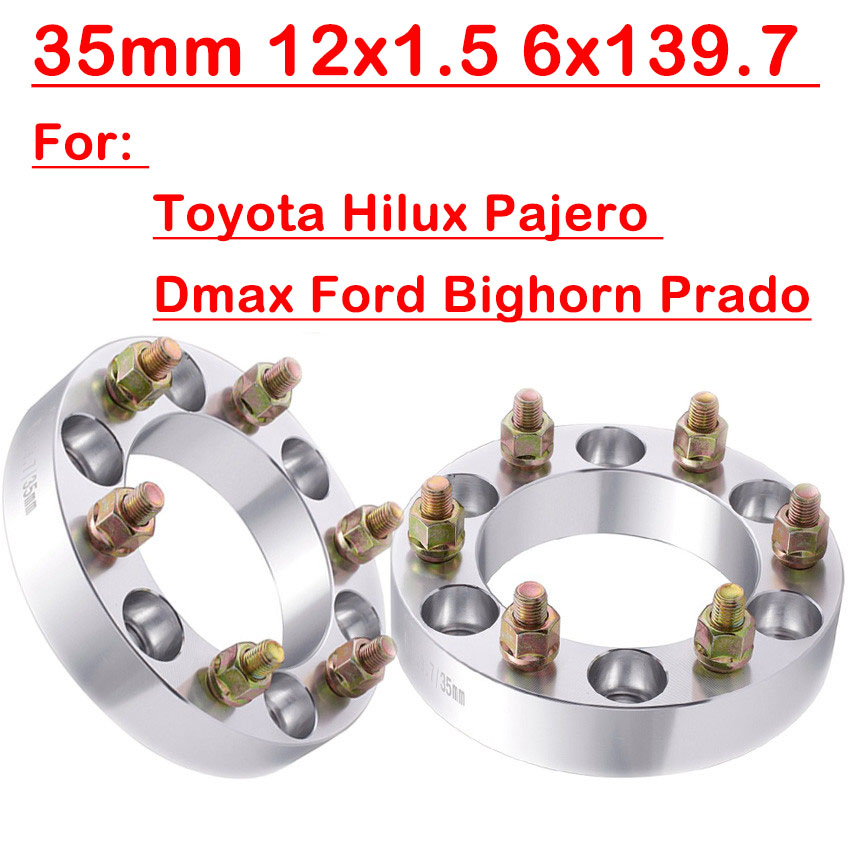 Fits;Toyota Hilux 4pcs 35mm 6x139.7 Wheel Spacer for Toyota Fj Cruiser,Hilux