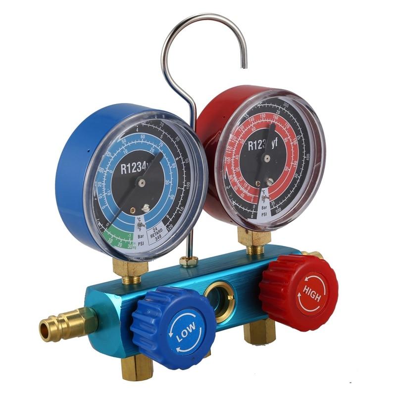 R1234yf Manifold Gauge Refrigerant System Automotive A//C Service Diagnostic Kit
