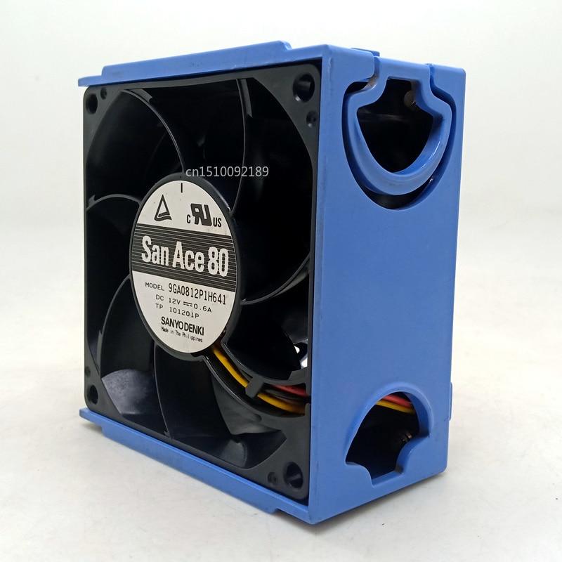 For Sanyo 8038 12V Double Ball PWM Fan 9GA0812P1H641 Wave 4U Server Chassis Fan Free Shipping