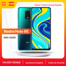 Nouveau Xiaomi Redmi Note 9 S Version globale 6GB 128GB Note 9 S Snapdragon 720G 6.67 ''FHD DotDisplay 5020mAh 48MP AI caméra 18W FC()