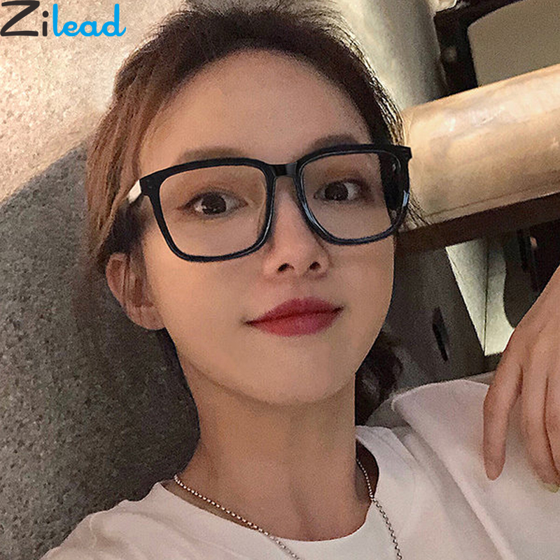Zilead Oversized Anti Blue Light Glasses Frame Square Optical Sepectacle Computer Games Goggles Eyeglasses For Men&Women