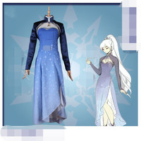 New Anime Season 4 Weiss Schnee Cosplay Costume For Christmas Women Uniform Suits