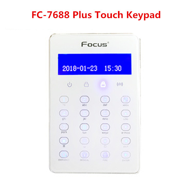 FC-7688 Plus Wired Touch Keypad  For FC-7688 TCP IP GSM GPRS Alarm System PSTN Alarm System