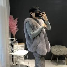 2019 New Hot Sell Women Faux Fur Vest Coat Winter jacket Sleeveless manteau femme hiver