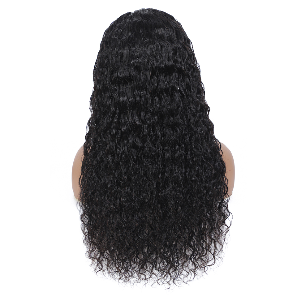 New Headband Wig  Wigs  Deep Wave 26 Inch  Machine Made  Natural Color Hair 150% Density 5