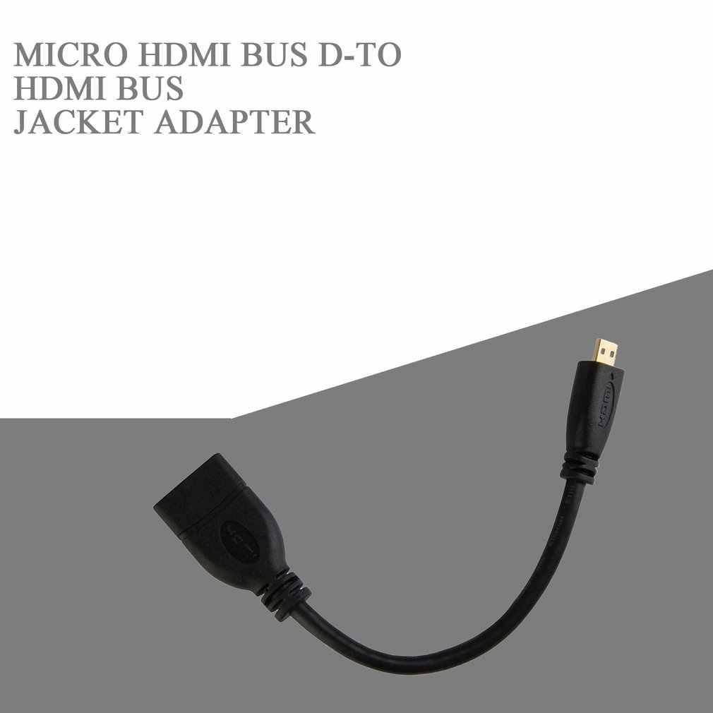 Micro Hdmi macho D A Hdmi hembra A cable adaptador de enchufe convertidor 1080P Micro Hdmi macho D A Hdmi hembra Jack adaptador