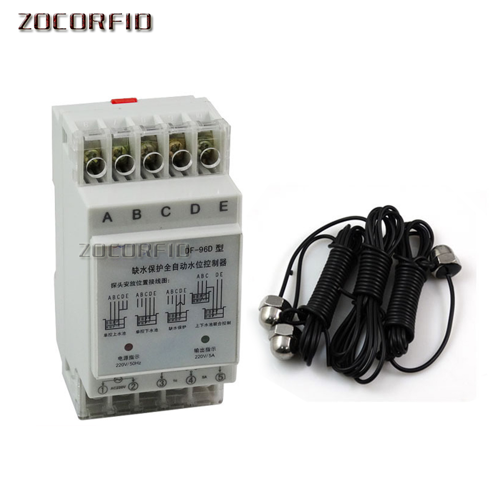 DF-96D Automatic Water Level Controller Switch AC220V Water Tank Liquid Level Detection Sensor Water Pump Controller