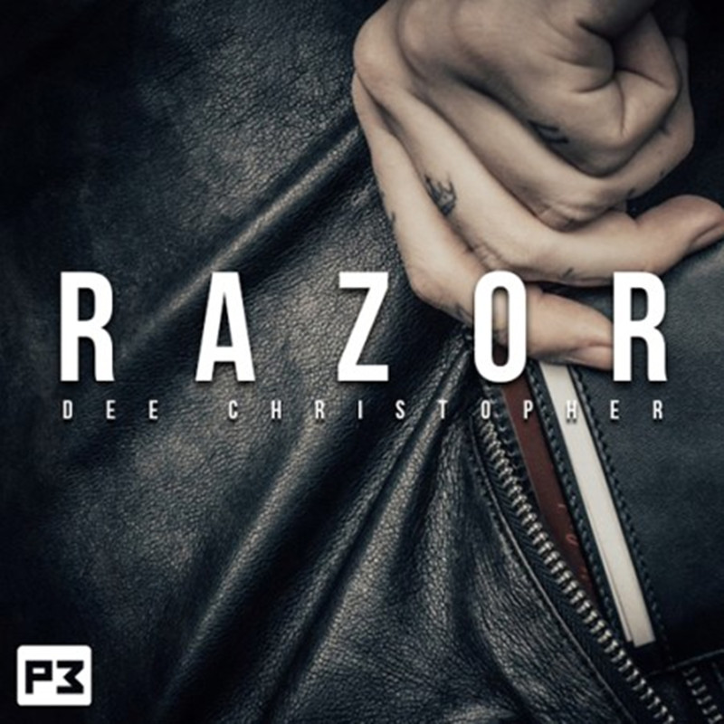 Razor Wallet By Dee Christopher Close Up Magic Tricks Miracle Wallet Peek Magician Stage Magic Accessories Illusion Gimmick Fun