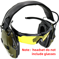 Наушники для электронной съемки с шумоподавлением  усилением звука  защитой слуха  амбушюрами  тактическая гарнитура