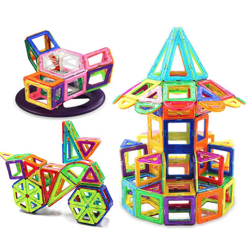21-89pcs Big Size Designer Conjunto de Construção Magnético Blocos de Construção Magnético Brinquedos Educativos Para Crianças Caçoa o Presente