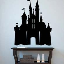 Замок Наклейка на стену Принцесса Замок Виниловая наклейка девушка комната Настенный декор сказочные фрески украшение дома