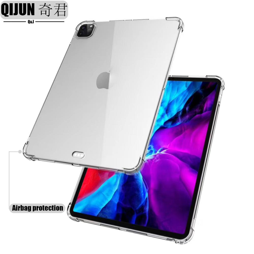 Tablet case for Apple ipad Pro 12 9 2021 Silicone soft shell TPU Airbag cover Transparent