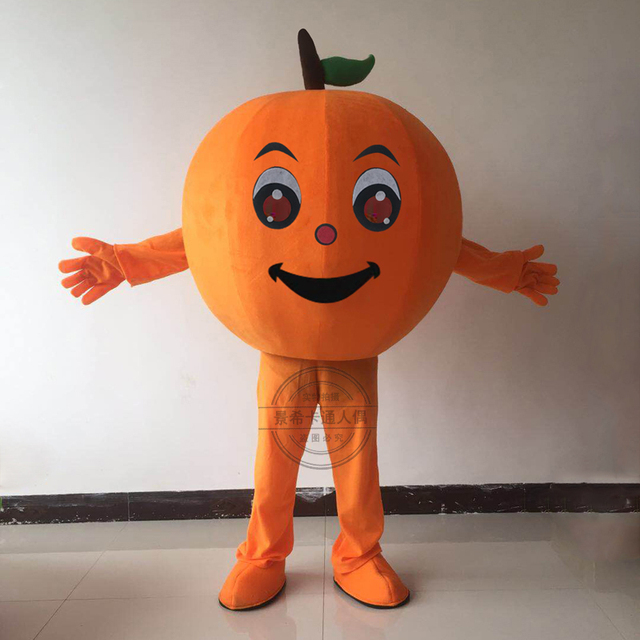 Details about  /Halloween Cartoon Orange Fox Cosplay Mascot Costume Party Xmas Outfit Carnival