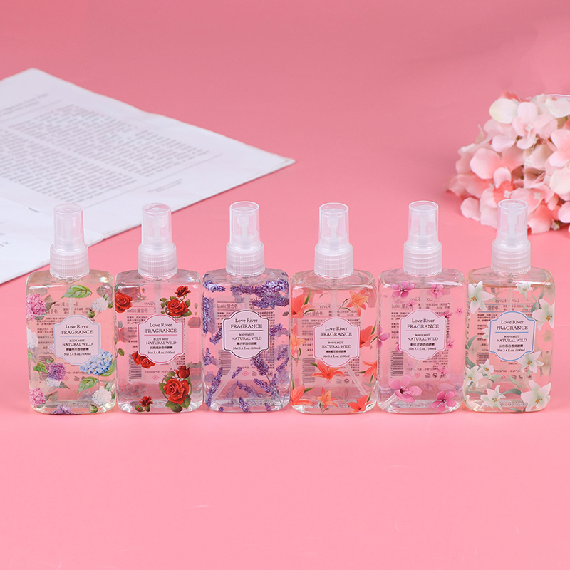 100ml  Fragrance Body Mist Naturally Wild Fresh Scent Perfume 6 Flavors Fragrance Spray Portable Travel Perfume