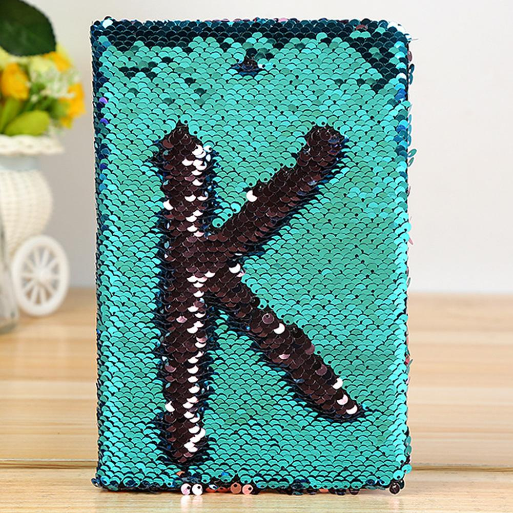 Creative Dazzling Alphabet Pattern Sequin Eye Protection A5 Office Notebook Gift