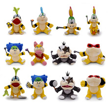 12 Styles Super Mario Cute Koopalings Iggy Lemmy Roy Ludwig Morton Wendy Larry Plush Toy Soft Dolls for Kids Christmas Gifts