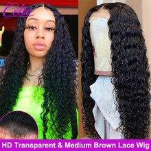 Perruque Lace Frontal Wig 360 bouclée – Celie, perruque Lace Front Wig HD, Deep Wave, longue, 28 30 pouces, densité 250