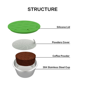Image 5 - Многоразовая Капсульная чашка из нержавеющей стали, совместимая с многоразовым фильтром для кофе Dolce Gusto, экологически чистый пищевой фильтр для кофе