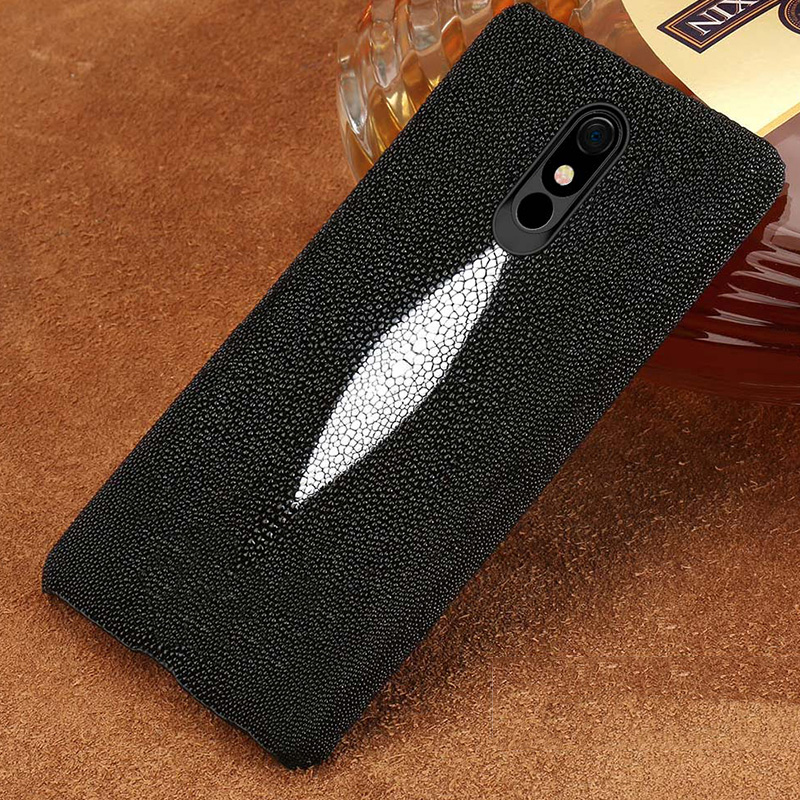 100% Genuine Stingray Leather Phone case For LG Stylo 5 Luxury Back Cover for LG Stylo 4 V40 V50 G7 G8 ThinQ G6 G5 Q6